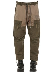 Diesel Multi Pocket Cotton Cargo Pants Dark Green