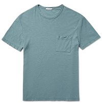 James Perse Slub Cotton Jersey T Shirt Gray Green