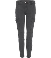 J Brand Houlihan Mid Rise Skinny Cropped Cargo Trousers Grey