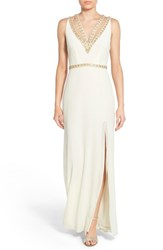 Women's Tfnc 'Celina' Embellished Strappy Gown