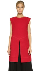 Derek Lam Tunic With Slit Front Red