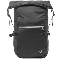 Fred Perry Authentic Roll Top Backpack Black