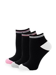 Juicy Couture Three Pack Novelty Ankle Socks Black
