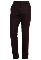 Tommy Hilfiger Tailored Suit Trousers Red Mottled Bordeaux
