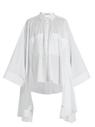 Palmer Harding Poet Patch Pocket Cotton Blend Shirt White