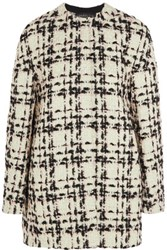 Giambattista Valli Wool Blend Boucle Tweed Coat Pastel Pink