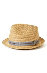Goorin Bros. Men's Brothers Keep It Real Straw Trilby Brown Tan
