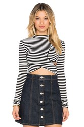 De Lacy Jules Crop Top Black And White