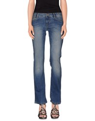Guess Denim Denim Trousers Women Blue