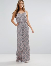 B.Young Tile Print Maxi Dress Multi