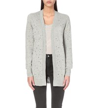 Allsaints Blink Knitted Cardigan Mirage Grey