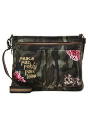 Desigual Across Body Bag Verde Militar Green
