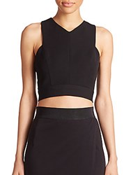 Abs By Allen Schwartz Cross Back Crop Top Black