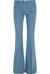 Michael Kors Collection Mid Rise Flared Bootcut Jeans Mid Denim