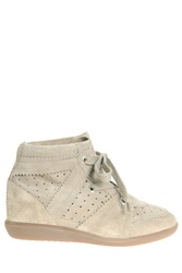 Etoile Isabel Marant Bobby Suede Sneakers Ivory