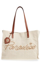 Tommy Bahama Island Hopper Canvas Tote Beige Paradise Linen