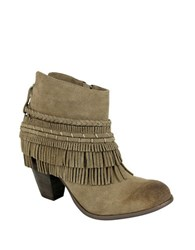 Naughty Monkey In Lyne Henna Arwork Leather Ankle Boots Taupe