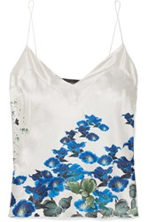 Meng Printed Silk Satin Camisole Blue