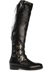 Gianmarco Lorenzi Buckled High Boots Black
