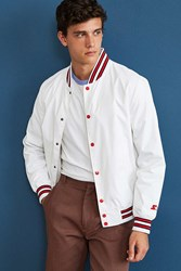 Urban Outfitters Starter Snap Front Athletic Jacket White