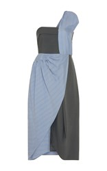 J.W.Anderson J.W. Anderson One Shoulder Beach Bodice Dress Blue