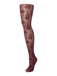 Charnos Floral Opaque Tights Purple