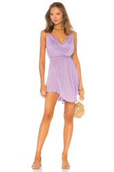 Indah Tahani Cowl Neck Dress Lavender