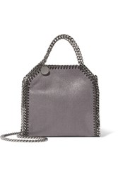 Stella Mccartney The Falabella Tiny Faux Brushed Leather Shoulder Bag Dark Gray