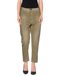Adele Fado Trousers 3 4 Length Trousers Women Military Green