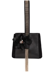 Lanvin Mini Chained Leather Bucket Bag