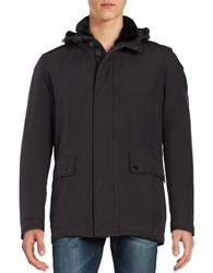 Strellson Original Edition Wool Blend Lined Utility Jacket Black