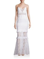 Self Portrait Peony Lace Mermaid Gown White