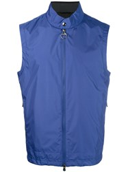 Z Zegna Sleeveless Zip Jacket Blue