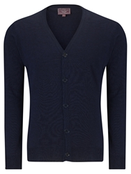 John Lewis Made In Italy Merino Cardigan Navy