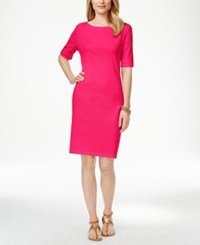 Karen Scott Boat Neck Short Sleeve Dress Only At Macy's