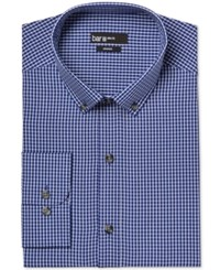 Bar Iii Slim Fit Navy White Tattersall Check Dress Shirt Only At Macy's