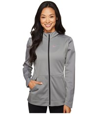Nike Therma Hyper Elite Hoodie Dark Grey Heather Black Iridescent Women's Sweatshirt Gray
