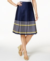 Charter Club Cotton Print Skirt Only At Macy's Intrepid Blue Chain Combo