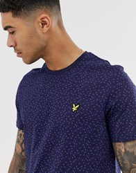 Lyle And Scott Tile Print T Shirt In Navy