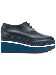 Robert Clergerie Lomia Platform Derby Shoes Blue