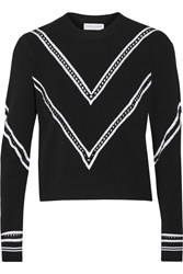 Tanya Taylor Keaton Modal Blend Sweater Black