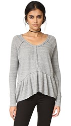 Free People Coastline Tee Grey