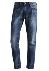 Tom Tailor Denim Atwood Straight Leg Jeans Mid Stone Wash Denim Blue Denim