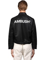 Ambush Logo Print Nylon Jacket Black