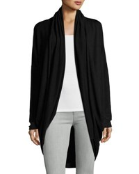 P. Luca Long Line Cocoon Cardigan Black