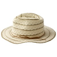 Fat Face Lace Trilby Hat Cream