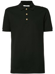 Givenchy Buttoned Polo Shirt Black