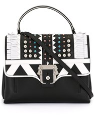 Paula Cademartori Fringe Embellished Shoulder Bag Black