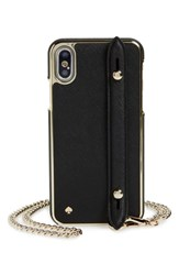 Kate Spade New York Hand Strap Iphone X Crossbody Case Black