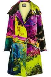 Just Cavalli Printed Velvet Coat